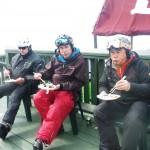Mr E, Doug and Milty enjoying OKA SUSHI